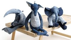 DIY Denim Toy Animals by Maison Indigo @Amanda Schumann