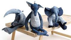 Denim Toy Animals by Maison Indigo