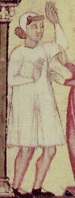 Cantigas de Santa María de Alfonso X el Sabio, hacia 1280-85, Biblioteca del Monasterio de San Lorenzo de El Escorial, Madrid (detalle)