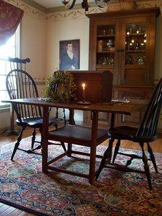 Dining room picture ....Spring 2015 Linda Babb www.picturetrail.com/theprimitivestitcher