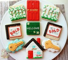 Cute cookies for a new home buyer....