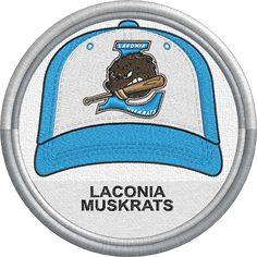 f0a7b4546c4 ... MiLB - Created by Jackson Cage. Laconia Muskrats - baseball cap hat  sports logo - New England Collegiate Baseball League - Minor