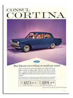Ford Consul Cortina Advert
