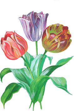 Tulip Trio Tee by taiche http://www.redbubble.com/people/taiche/works/6895898-tulip-trio-tee?asc=u&p=sticker&rel=carousel