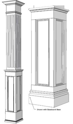 Arches and columns on pinterest interior columns for Mdf square columns
