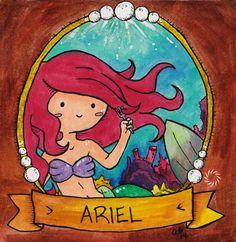 Ariel - Signed Watercolor Print