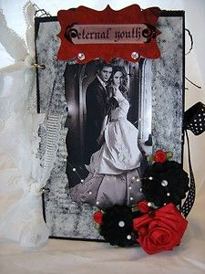 $29.99 starting bid  Twilight Sage Breaking Dawn w/ Vintage flare Edward & Bella scrapbook album OOAK ~ Sold