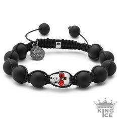 Matte Agate Bling Bling CZ Skull Bead Bracelet King Ice. $39.99. Skull Bead Bracelet. Celebrity Style. 90 Day Warranty. Adjustable Size. Disco Ball Jewelry