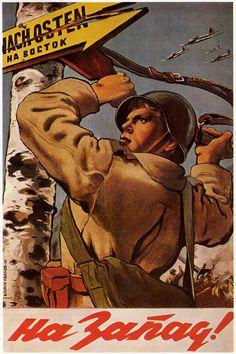 Cartel de propaganda Sovietico - Russian propaganda poster - Segunda guerra mundial - Second World War - WWII