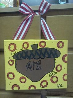 Painted Sorority Canvas Alpha Gamma Delta by GoingBack2Callie