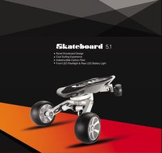 Longboard Carbon fiber 4 wheel electric skateboard Snowboard Elektroroller