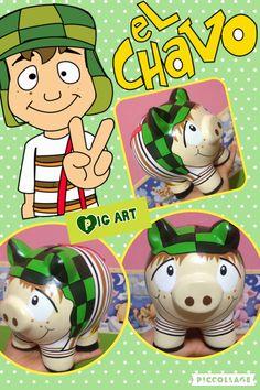 Pig Art, Luigi, Lana, Diy, Fictional Characters, Ideas, Paper, Pigs, Painted Flower Pots