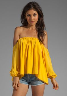 BOULEE Audrey Top in Auroa Yellow at Revolve Clothing - Free Shipping!
