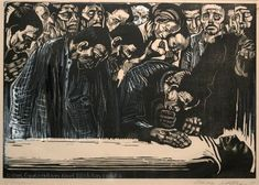 Käthe Kollwitz, Memorial Sheet of Karl Liebknecht (Art Institute of Chicago)
