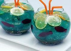 This colorful, spiked punch is a party riot for adults (and for kids - just omit the booze).