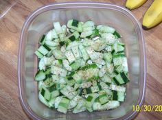 Chilled asian cucumber salad