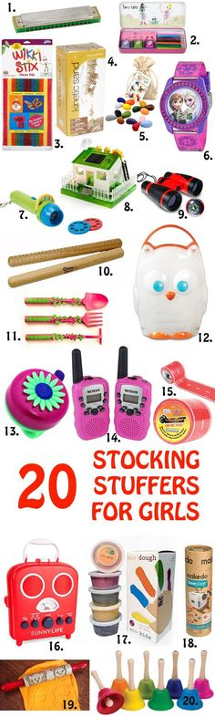 20 Non-Candy Stocking Stuffers for Girls - at Non Toy Gifts