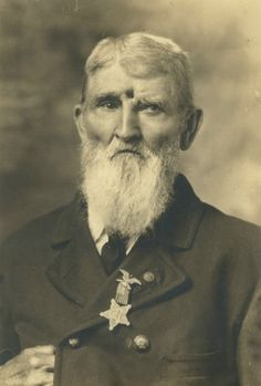 """Civil War Veteran Jacob Miller was shot in the forehead on Sept.19th 1863 at Brock Field at Chickamauga. He lived with an open bullet wound for many years, with the last pieces of lead dropping out 31 years after he was first shot. 1911.[[MORE]] Jacob Miller's account taken from the Daily News Joliet Ill. Wed. June 14,1863. """"Seventeen years after I was wounded a buck shot dropped out of my wound and thirty one years after two pieces of lead came out."""""""
