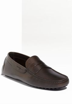 $425, Dark Brown Leather Driving Shoes: Tod's Gommini Driving Moccasin Dark Brown Leather 12us 11uk M. Sold by Nordstrom. Click for more info: https://lookastic.com/men/shop_items/98558/redirect