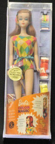Vintage Color Magic Barbie Doll - I had this one.  I do remember that the first Barbie I had was a red head and I bit off all her fingers and toes.  Gross!
