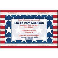 Americana  Personalized Invitations