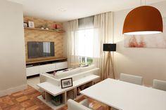 Sala integrada de apartamento reformado, 70 m², em Moema, São Paulo. Tem integração entre ambientes, decoração contemporânea, ótima área de circulação e, claro, muito conforto...Veja mais inspirações: www.lilianazenaro.com.br#lilianazenaro #lilianazenarointeriores #projetolilianazenaro #salasintegradas #estilocontemporâneo #decoradorasp #decoradoramoema #apartamentoemmoema #apartamentopequeno #apartamentoreformado #reforma