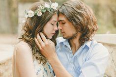Romantic Bohemian Engagement Shoot | Kristen Booth Photography | Bridal Musings Wedding Blog