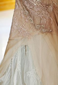 Once Wed, real wedding, beige wedding gown, beading, lace Wedding Art, Wedding Gowns, Beige Wedding, Wedding Blog, Vintage Lace, Vintage Looks, Vintage Romance, Antique Lace, New Designer Dresses