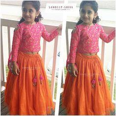New dress designer indian for kids Ideas Baby Lehenga, Kids Lehenga Choli, Kids Saree, Anarkali, Kids Frocks Design, Baby Frocks Designs, Kids Dress Patterns, Kids Clothes Patterns, Baby Dress Design