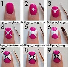 Nice Nail Art Step by Step Tutorials | Step by Step Nail Designs