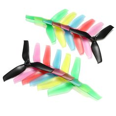 2017 Hot New 10 Pairs Racerstar 5042 5x4.2x3 3 Blade Propellers 5.0mm Mounting Hole For FPV Racing Frame