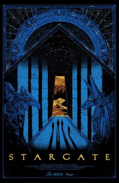 Sale info for Stargate by Kilian Eng On Wednesday December we're releasing a brand new officially licensed screenprint movie poster, showcasing artwork by Kilian Eng. For some time now we wanted to work on a screenprint with Kilian and Stargate was d Best Movie Posters, Cinema Posters, Fantasy Movies, Sci Fi Fantasy, Skyfall, Stargate Movie, Stargate Ships, Kilian Eng, Stargate Universe