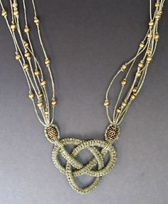 Micro-Macrame Jewelry ePattern                     haven't done any macramé since the 70's. need to relearn!