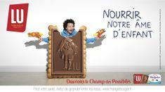 Affiche publicitaire #Lu - Nourrir votre #âme #enfant