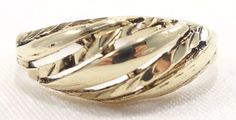 14k Solid Gold Ring Unique Eye Catching Design Great Texture Can Be Sized
