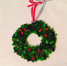 """Hand Made """"Confetti"""" - Fused Glass Christmas Ornament by ..."""