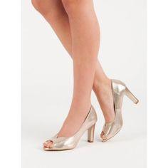 Lodičky s otvorenou špičkou Vinceza Peeps, Kitten Heels, Peep Toe, Shoes, Fashion, Moda, Zapatos, Shoes Outlet, Fashion Styles