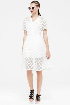 a87dab6adb Primark Spring/Summer 2014 | Fashion Pictures | Marie Claire White Mesh  Dress, Summer