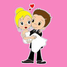 Vrolijk bruidspaar van Ontwerp Studio GIJNig. www.GIJNig.com