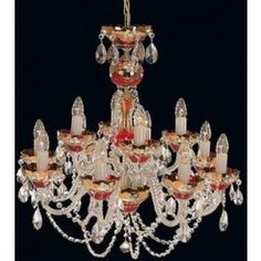 Tomia L 500/12/3 High Enamel Erica 12-Light Crystal Chandelier