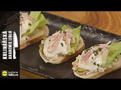 Sypaný chlebíček - Roman Paulus - Kulinářská Akademie Lidlu - YouTube Bruschetta, Potato Salad, Good Food, Food And Drink, Mexican, Roman, Cooking, Ethnic Recipes, Youtube
