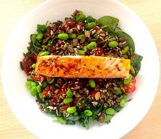 The 5 Minute Superfood Salad That Will Help To Lower Your Cholesterol Cholesterol Friendly Recipes, Low Cholesterol Diet Plan, Lower Your Cholesterol, Cholesterol Levels, Diet Recipes, Cooking Recipes, Healthy Recipes, Cooking Tips, Natural Remedies For Gerd