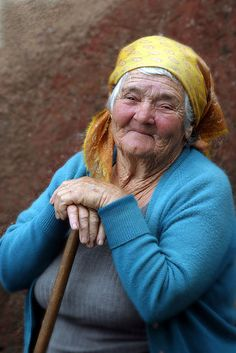 Madeira woman by Roberto Kaplan via Flickr. Old lady, stick, hands, wrinckles, lines of life, powerful face, intense eyes, expression, wisdom, portrait