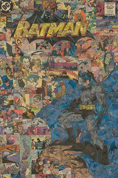 Giclee print of my 24x36 comic collage featuring my version of the amazing Jim Lee''s cover image from the 'Hush' series . This collage was made to recreate the look of the cover of a comic book with small details like the CCA badge and the DC logo in the corner. The original collage took approximately 175 hours to cut and assemble. Each original piece takes approx. 100-150 hours to complete.