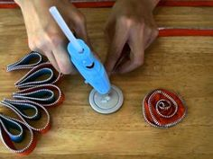 Caroline is back to teach you how to make this brooch using Maya Road Zipper Trim and hot glue. What a great project for your own personal use or to give as a gift!