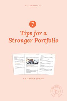 7 Tips for a stronger graphic design portfolio. Click to read the article or pin & save for later!