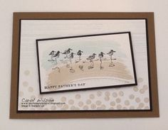 Happy Father's Day - Stampin'Up • Wetlands, Work of Art, Dotty Angles & Georgeous Grunge