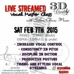 Vocal Master Class.