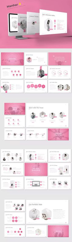 Manhar - Powerpoint Template by inspirasign on Envato Elements Presentation Design Template, Ppt Design, Presentation Slides, Powerpoint Presentation Templates, Keynote Template, Design Templates, Creative Industries, Download, Page Layout
