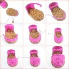 Merve Denlikol: Crochet Baby Espadrilles Free Pattern